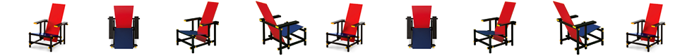 Cassina 635 Red And Blue fauteuil